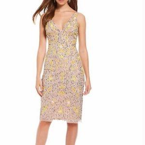 GIANNI BINI Madi Dress Blush Multi Sequinned dress